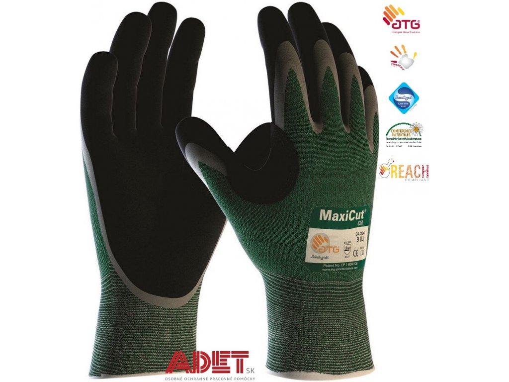 pracovne rukavice ardon atg maxicut oil 34 304