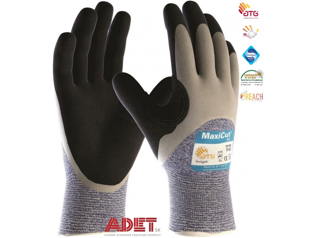 pracovne rukavice ardon atg maxicut oil 34 505