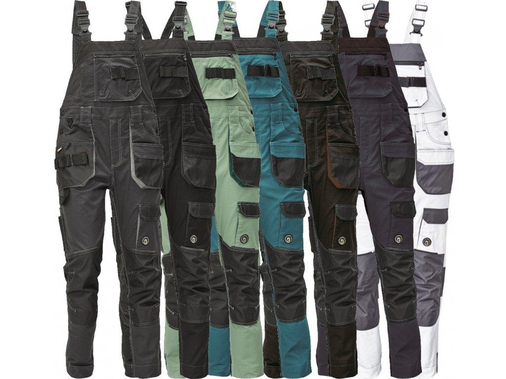 pracovné nohavice cerva dayboro biela siva 0302039750