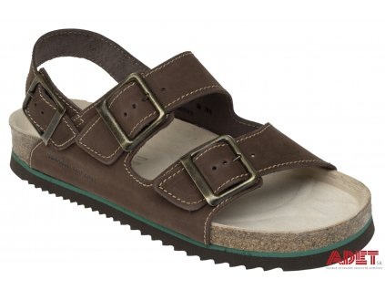 bennon brown bear sandal Z60023 front 3