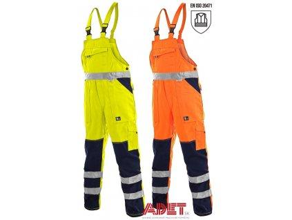 pracovne nohavice s naprsenkou reflexne cxs norwich 1112003