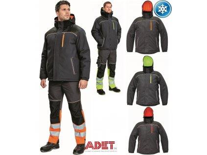 pracovna bunda zimna cerva 03010469 KNOXFIELD WINTER JACKET orange 2