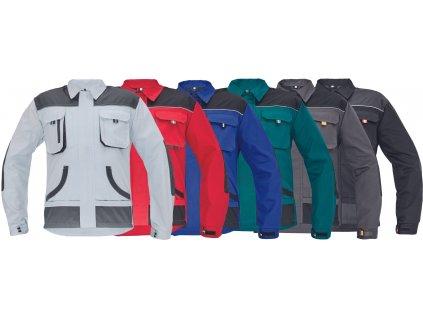 nohavice pracovne s naprsenkou damske cerva 03020325 MAX EVO LADY bibpants green 1