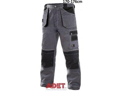 pracovne nohavice do pasa cxs orion TEODOR 1020025710 sedo cierne skratene