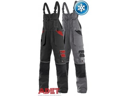pracovne nohavice s naprsenkou cxs orion KRYŠTOF 1030004 zateplene