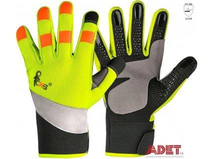 kombinovane rukavice reflexne cxs benson