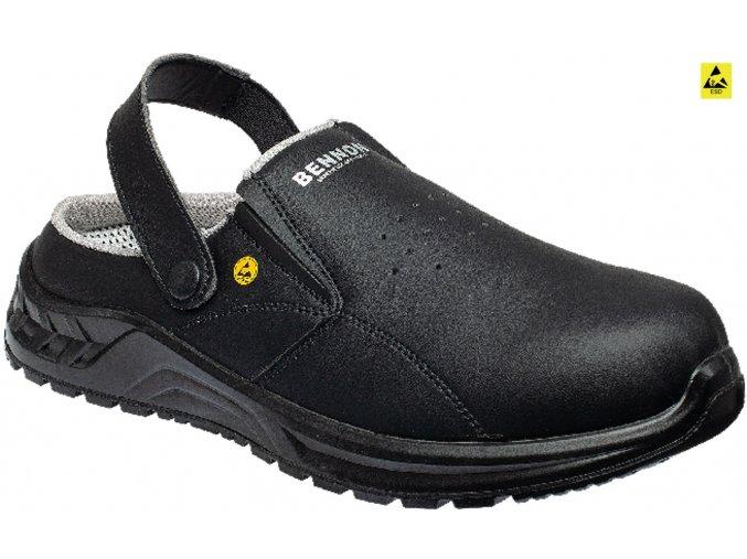 bennon black slipper Z31083v60 front 3