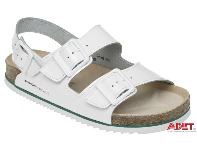 bennon white horse sandal Z60022 front 3