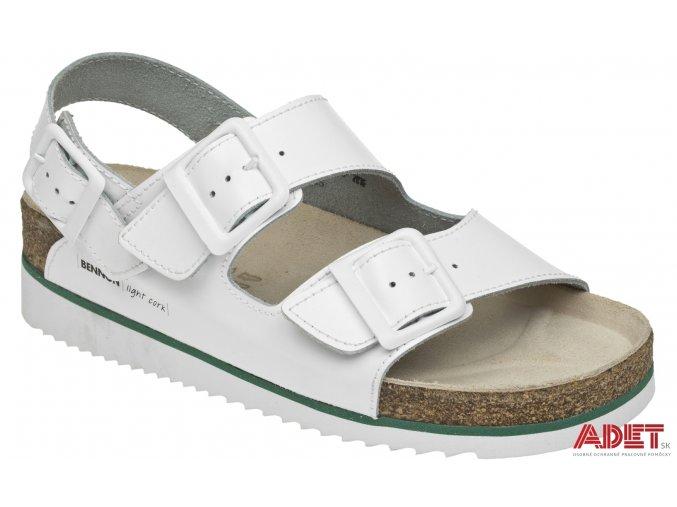 bennon white horse heel sandal Z60026 front 3