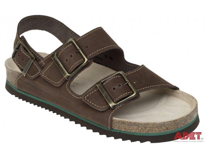 bennon brown bear sandal Z60023 front 3