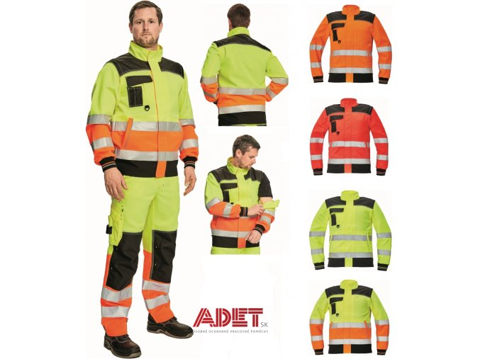 pracovna bunda cerva 03010464 KNOXFILED HV JACKET yellow orange 5