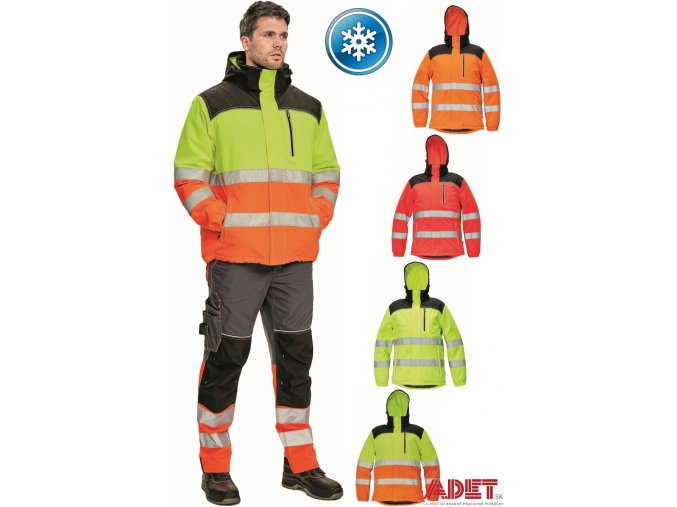 pracovna bunda cerva 03010465 KNOXFIELD HV WINTER JACKET yellow orange 1