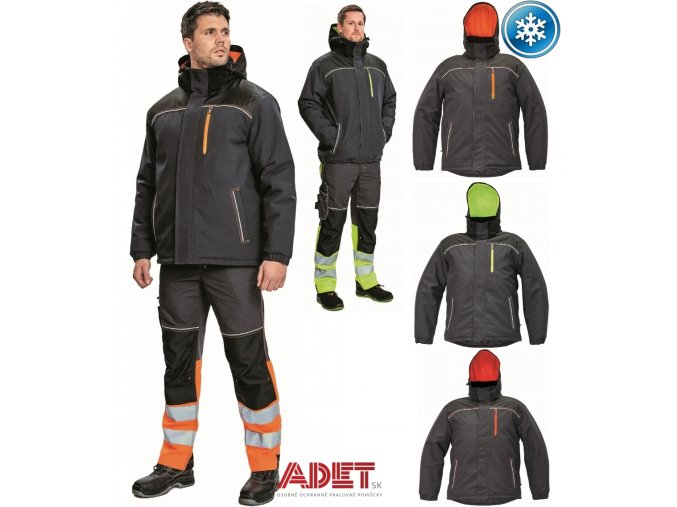 pracovna bunda zimna cerva 03010469 KNOXFIELD WINTER JACKET orange 2