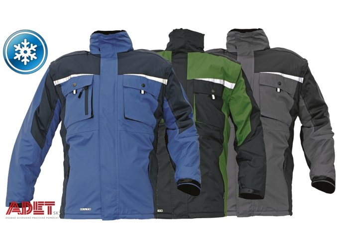 pracovna bunda zimna cerva 03010183 ALLYN jacket grey 1
