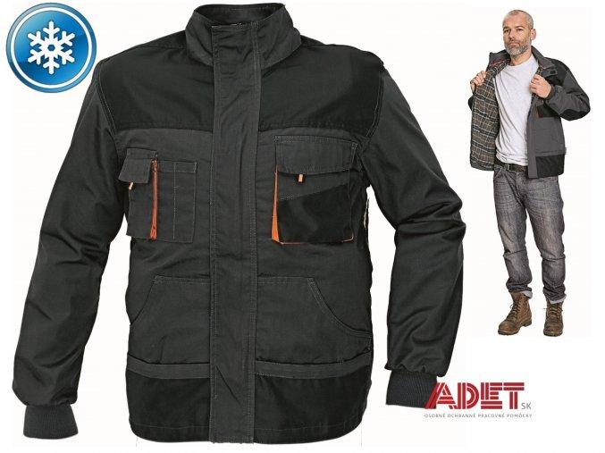pracovna bunda zimna cerva 03010321 EMERTON jacket black 1