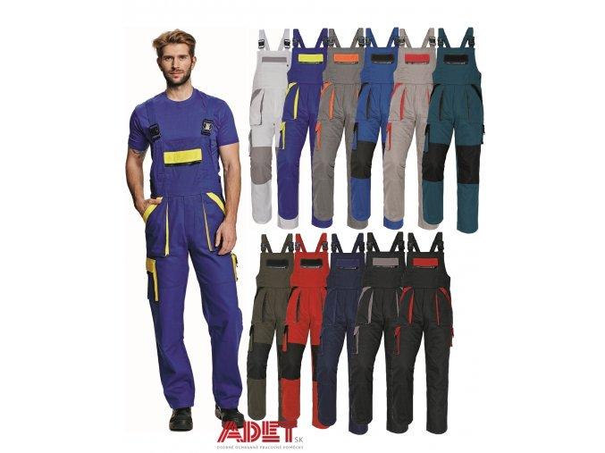 nohavice pracovne s naprsenkou cerva 03020145 MAX bibpants 1