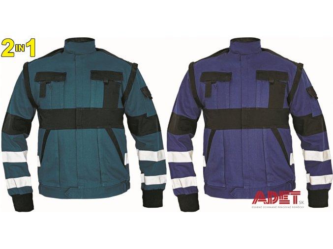 blúza pracovna reflexna 2 v 1 cerva 03010379MAX RFLX jacket green 4