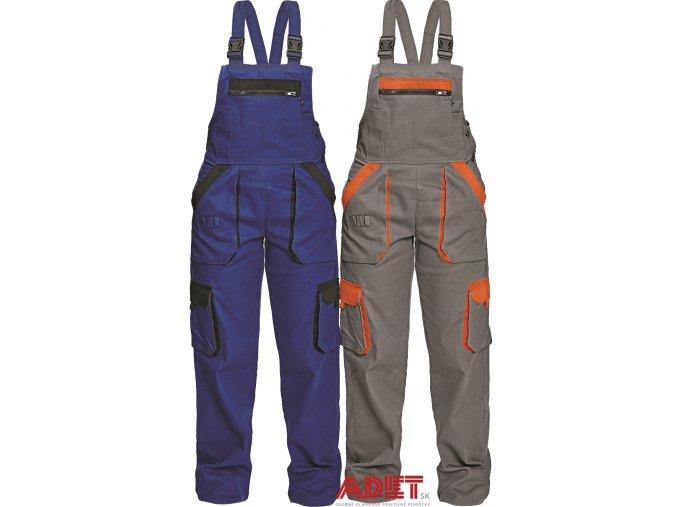 nohavice pracovne s naprsenkou damske cerva 03020243 MAX LADY BIBPANTS BLUE 1