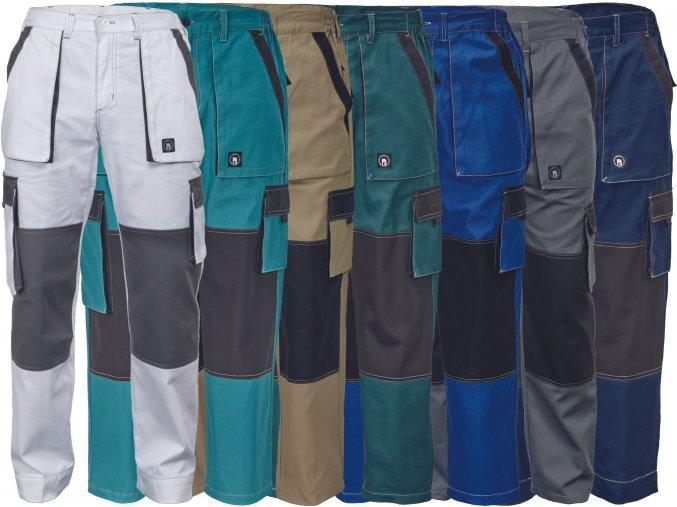 nohavice pracovne do pasa cerva 03020238 MAX SUMMER PANTS grey 1