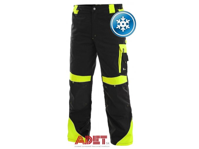 pracovne nohavice do pasa zateplene cxs SIRIUS BRIGHTON 1020014802 cierno zlta