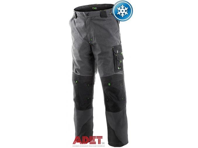 pracovne nohavice cxs sirius NIKOLAS 1020014708 sedo cierno zelene zateplene