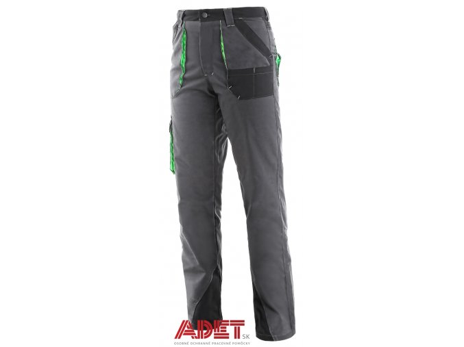 pracovne nohavice do pasa damske cxs sirius AISHA 1020002708 sedo cierno zelena