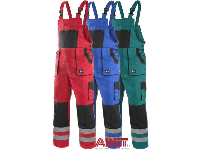 pracovne nohavice cxs luxy bright s naprsenkou
