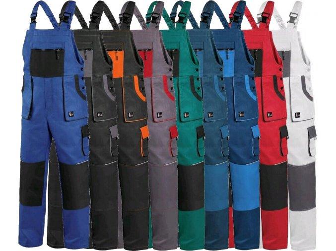 pracovne nohavice s naprsenkou cxs robin 1030006