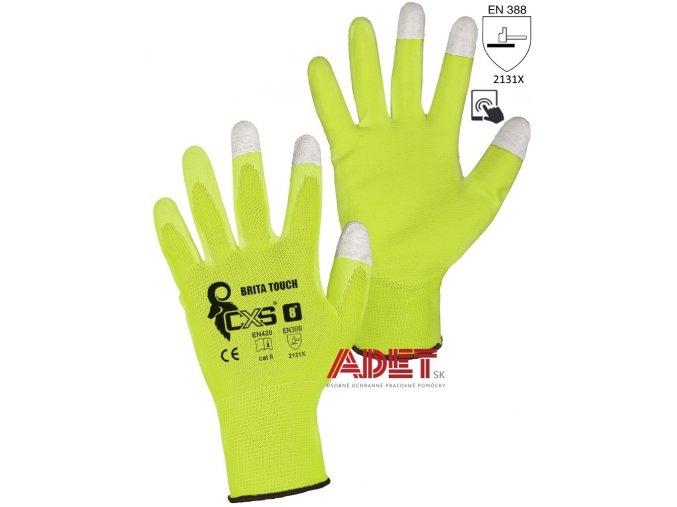 pracovne rukavice cxs brita touch 3440049166