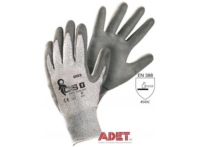 pracovne rukavice cxs cita II protiporezove 363002000000