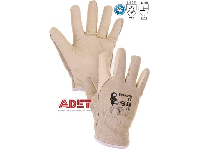 pracovne rukavice cxs zemne urbi winter 370000700000
