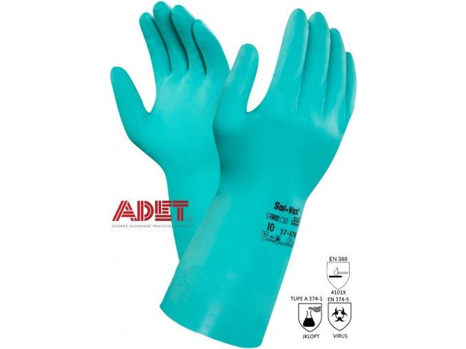 pracovne rukavice cxs ansell sol vex 37 676 366000350000