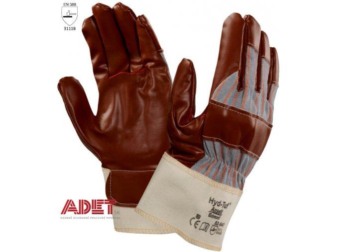 pracovne rukavice cxs ansell hyd tuf 52 547 321001360000