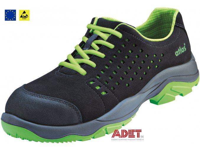 pracovna obuv cxs atlas sl 205 green esd s1p 212602850000