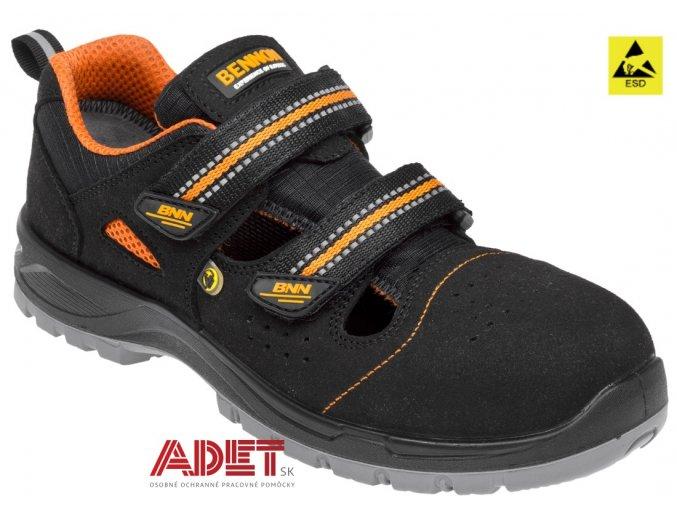 pracovna obuv bnn nux s1p esd nm sandal z81019 front
