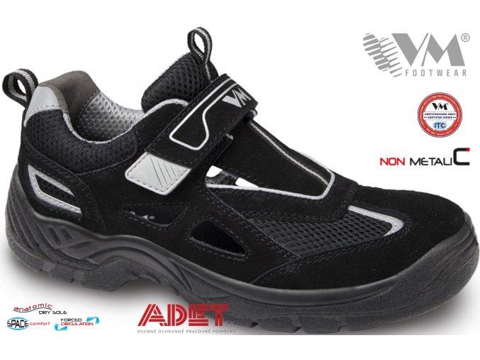 pracovna obuv vm amsterdam 2865 cierne