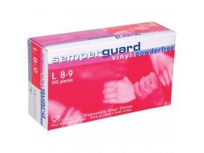 rukavice semperguard vinyl nepudr