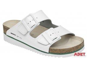 bennon white horse heel slipper Z60024 front 3