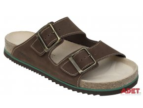 bennon brown bear slipper Z60021 front 3