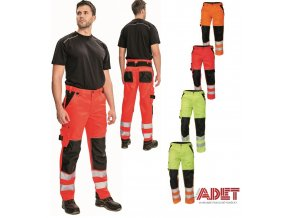 pracovne nohavice do pasa cerva 03020326 KNOXFILED HV PANTS red 3