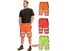 pracovne sortky cerva 03100021 KNOXFIELD HV SHORTS orange 2