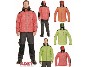 pracovna bunda softshellova cerva 03010473 KNOXFIELD HV SOFTSHELL JACKET red 3