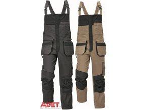pracovne nohavice s naprsenkou cerva 03020245 RENMARK bibpants gray 1