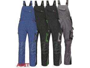 pracovne nohavice s naprsenkou cerva 03020132 ALLYN BIBPANTS grey 3