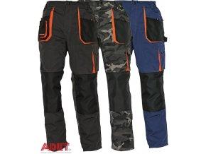 Pracovné odevy - montérkové nohavice do pása EMERTON ČERVA