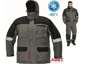 bunda pracovna zimna cerva 03010290 EMERTON WINTER JACKET grey 1