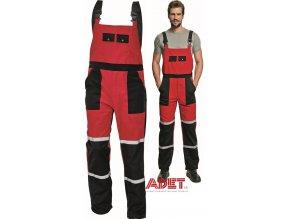 nohavice pracovne s naprsenkou cerva 03020116 TAYRA bibpants 2