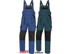nohavice pracovne s naprsenkou cerva 03020145 MAX bibpants blue black 1