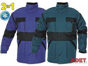 bunda pracovna zimna cerva 2 v 1 03010219 MAX winter jacket blue 3