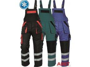 nohavice pracovne s naprsenkou reflexne cerva 03020310 MAX WINTER REFLEX BIBPANTS blue 1